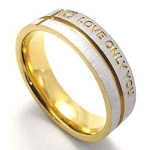 """Stainless Steel """"Love Only You"""" Ring- 2 for $15"""